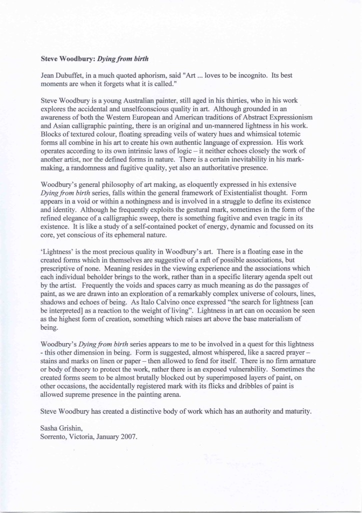 Sasha Grishin introductory essay (low res) - for the 3M exhibition, 2007